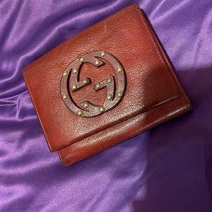 Maroon Gucci purse